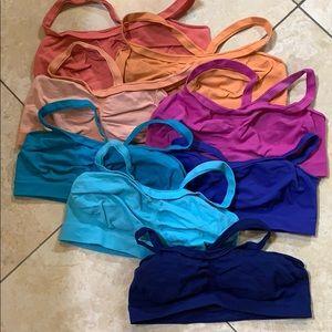 8 light support racerback sports bras